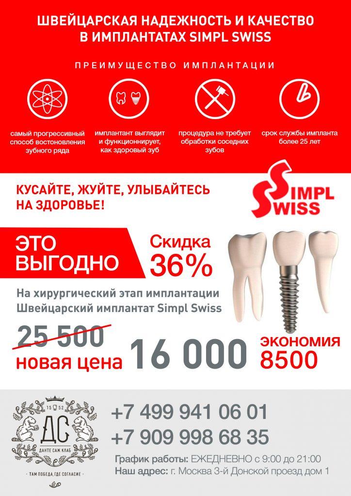 Замена зубов имплантами